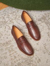 L'embellie cognac leather