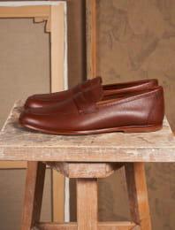 L'embellie cuir graine marron